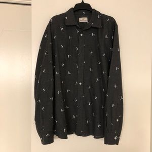Marine Layer Men's Grey button down size larger